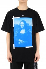 Off-White BLUE MONALISA S/S OVER TEE/BLACK(OMAR21-032)