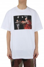 Off-White CARAVAGGIO S/S OVER TEE/WHITE(OMAR21-038)