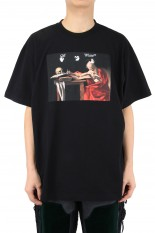 Off-White CARAVAGGIO S/S OVER TEE/BLACK(OMAR21-039)