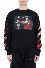 Off-White CARAVAGGIO SLIM CREWNECK/BLACK(OMBR21-083)