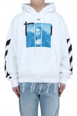 Off-White BLUE MONALISA OVER HOODIE/WHITE(OMBR21-106)
