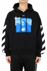 Off-White BLUE MONALISA OVER HOODIE/BLACK(OMBR21-107)