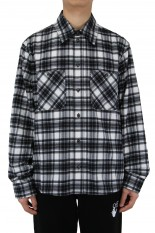 Off-White OW ALLOVER CHECK FLANN SHIRT/BLACK(OMGR21-199)