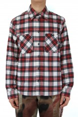 Off-White OW ALLOVER CHECK FLANN SHIRT/RED(OMGR21-200)