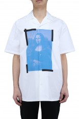 Off-White BLUE MONALISA HOLIDAY SHIRT(OMGR21-215)