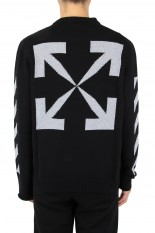 Off-White ARROW CREWNECK/BLACK(OMHR21-233)