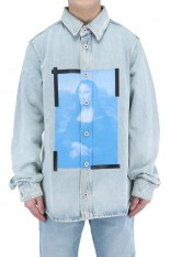 Off-White BLUE MONALISA DENIM SHIRT(OMYR21-447)