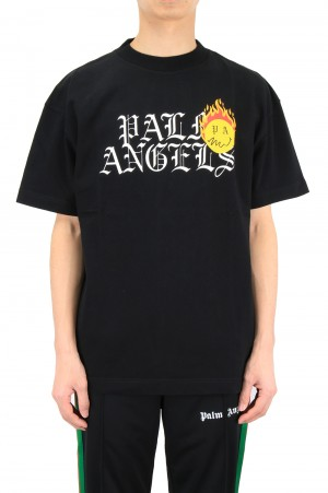 Palm Angels BURNING HEAD LOGO TEE(PMAA001R21JER0031018)