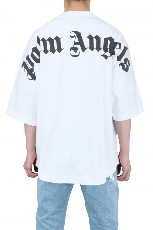 Palm Angels CLASSIC LOGO OVER TEE / WHITE(PMAA002R21JER0010110)