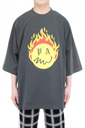 Palm Angels BURNING HEAD LOOSE TEE / BLACK (PMAA041R21JER00110180