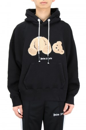 Palm Angels PALM ANGELS BEAR HOODY / BLACK (PMBB058R21FLE0011060)