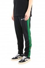 Palm Angels COLLEGE SLIM TRACK PANTS / BLACK (PMCA023R21FAB0011001)