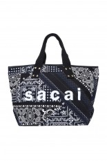 sacai -Women- Patchwork Tote Large -Black Navy Multi (21-0192S)