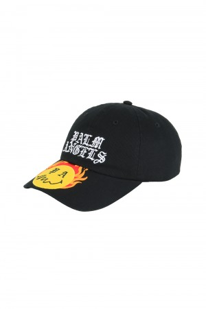 Palm Angels BURNING HEAD CAP / BLACK (PMLB003R21FAB0041018)