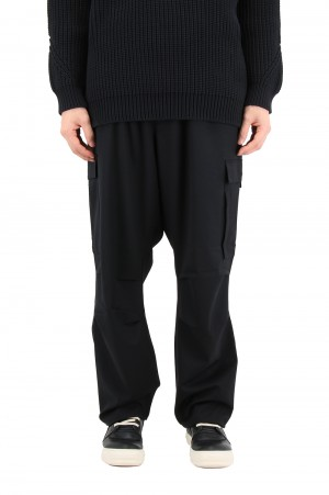 Y-3 M CLASSIC REFINED WOOL STRETCH CARGO PANTS / BLACK (FN3399)
