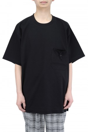 Y-3 M CLASSIC PAPER JERSEY POCKET TEE / BLACK (GV4244)