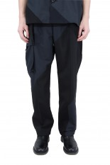 sacai -Men- Hank Willis Thomas / Solid Mix Pants/BLACK(21-02449M)