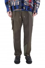 sacai -Men- Hank Willis Thomas / Solid Mix Pants/KHAKI(21-02449M)