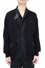 sacai -Men- Knit x Suiting Cardigan/BLACK(21-02463M)