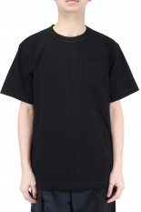 sacai -Men- Side Zip Cotton T-Shirt/Black(SCM-037)