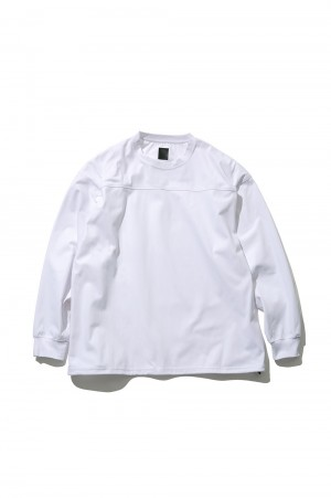 DAIWA PIER39 Tech Football Tee L/S - WHITE (BE-35021)