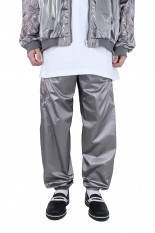 doublet GRADATION CHAOS EMBROIDERY TRACK PANTS/GREY(21SS11PT150)