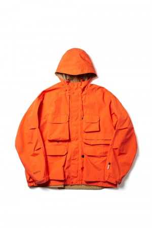 DAIWA PIER39 GORE-TEX INFINIUM(TM) Loose Mountain Parka - ORANGE (BJ-16021)