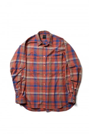 DAIWA PIER39 Tech Work Shirts Frannel Plaids - RED (BE-89021)