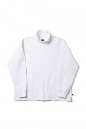 DAIWA PIER39 Tech Mockneck L/S - WHITE (BE-38021)