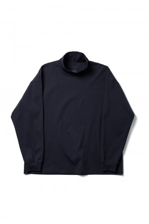 DAIWA PIER39 Tech Mockneck L/S - DARK NAVY (BE-38021)
