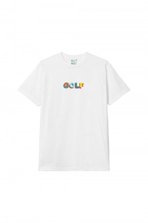 Golf Wang Multi Color 3D Golf Tee / White
