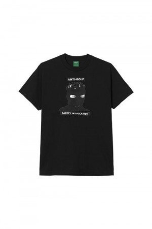 Golf Wang ISOLATION TEE by GOLF WANG /  BLACK