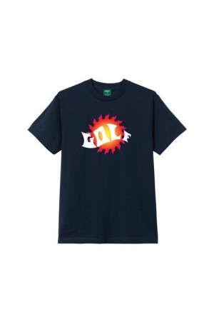 Golf Wang WAVES TEE by GOLF WANG / NAVY