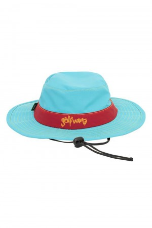 Golf Wang SAFARI BOONIE HAT by GOLF WANG / BLUE