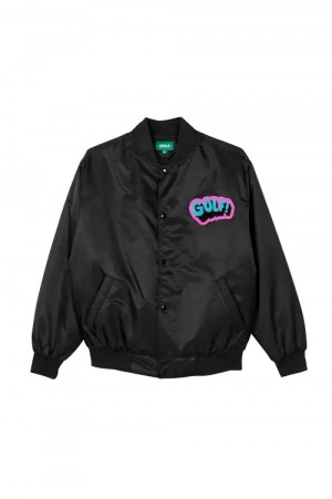 Golf Wang WHAM BOMBER JACKET by GOLF WANG / BLACK