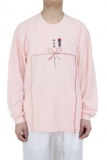 doublet JAPANESE GIFT WRAPPING LONG SLEEVE T-SHIRT/PINK(21SS33CS180)