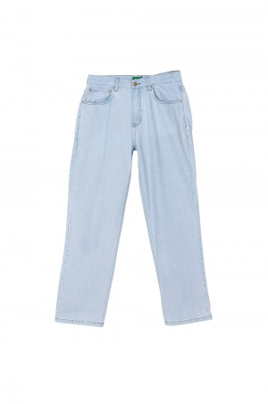 Golf Wang BIG CURSIVE DENIM JEANS by GOLF WANG / LIGHT WASH