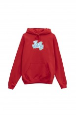 Golf Wang LITTLE SHIT GLITTER HOODIE by GOLF WANG / RED