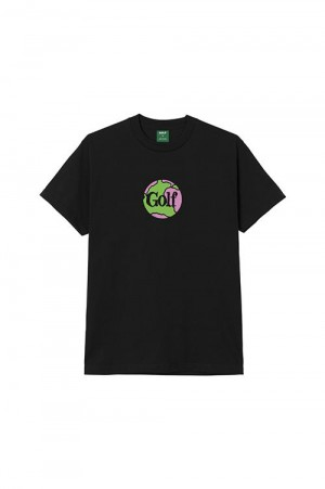 Golf Wang GLOBE TEE by GOLF WANG / BLACK