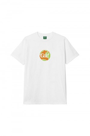 Golf Wang GLOBE TEE by GOLF WANG / WHITE