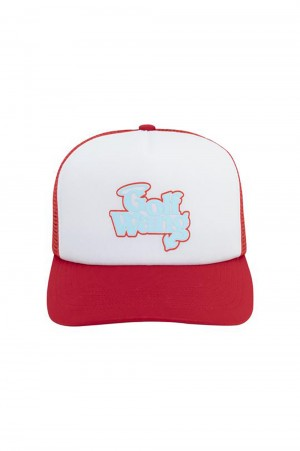 Golf Wang LITTLE SHIT TRUCKER HAT by GOLF WANG / RED