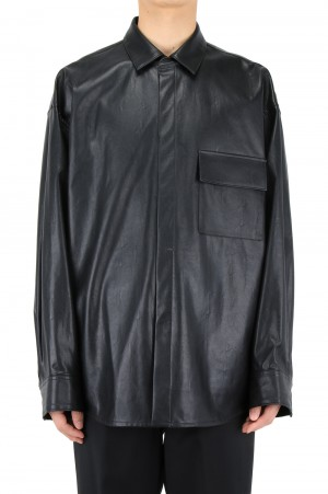 Stein -Men- FAKE LEATHER DOWN PAT SHIRT (ST.230)