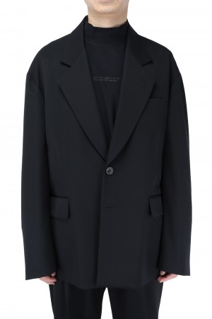 Stein -Men- OVERSIZED SINGLE BREASTED JACKET-BLACK- (ST.216-1)
