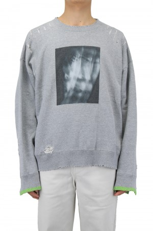 Stein -Men- OVERSIZED REBUILD SWEAT LS-GREY-(ST.238)