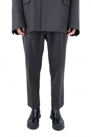 Stein -Men- WIDE TAPERED TROUSERS-SHADOW PEN- (ST.217-2)