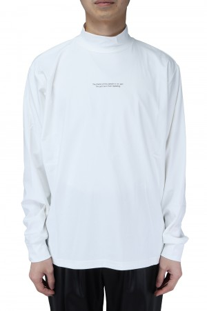Stein -Men- OVERSIZED HIGH NECK LS-WHITE- (ST.253)