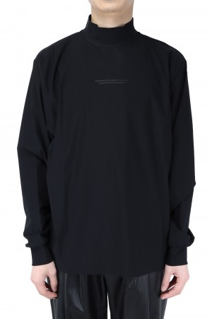 Stein -Men- OVERSIZED HIGH NECK LS-BLACK- (ST.253)