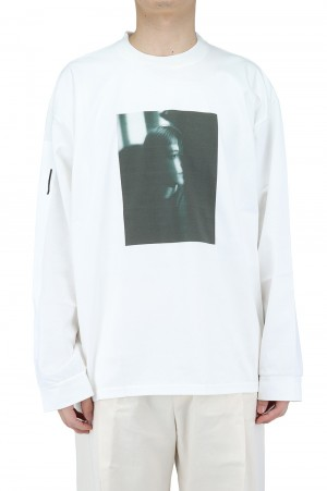 Stein -Men- OVERSIZED LONG SLEEVE TEE PORTLAIT- WHITE - (ST.254)