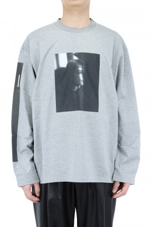 Stein -Men- OVERSIZED LONG SLEEVE TEE PORTLAIT- GREY - (ST.254)