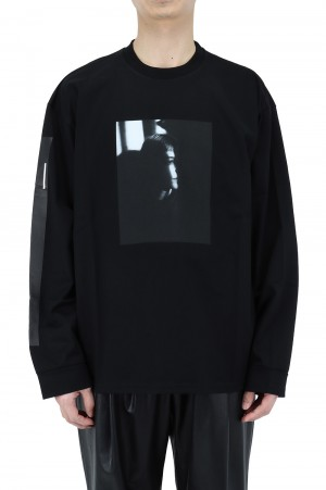 Stein -Men- OVERSIZED LONG SLEEVE TEE PORTLAIT - BLACK- (ST.254)